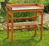 Pflanztisch / Gartentisch Pflanzhilfe mit Stahlblechfläche für rückenschonendes Arbeiten - 78x39 cm