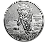 2013 Canadian  for  Fine Silver Coin-Wolf