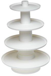 Wilton 4 Tier White Stacked Cupcake & Dessert Display ...