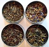 Heavenly Tea Leaves Tea Sampler, Organic White Tea, 4 Count