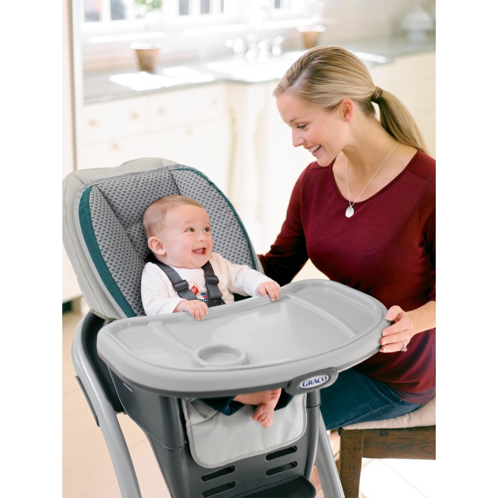 graco high chair blossom blue and a half 4 in 1 convertible seating system