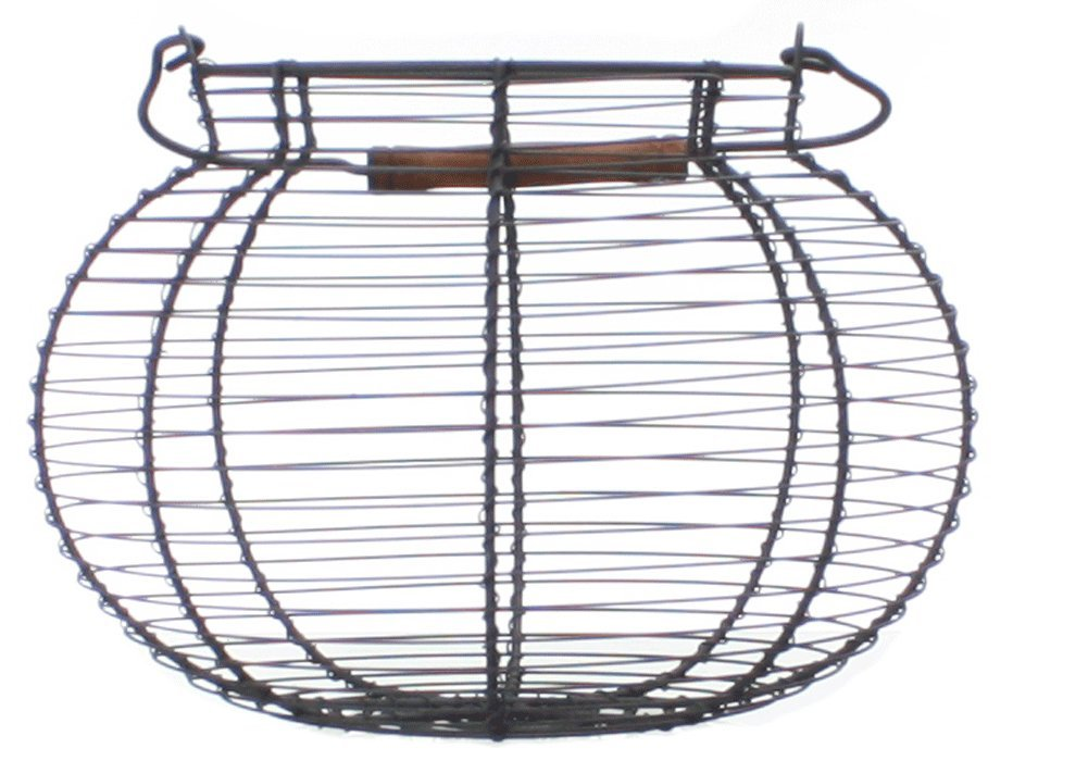 Antique Style Wire Egg Basket Shabby Cottage Chic Country