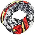 Superman Logo on Black/White Print Infinity Scarf