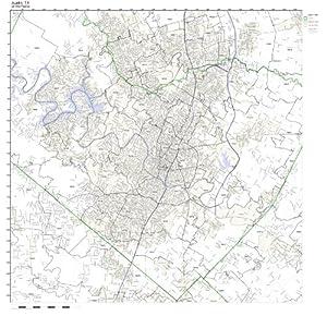 Amazon.com: Austin, TX ZIP Code Map Not Laminated: Prints