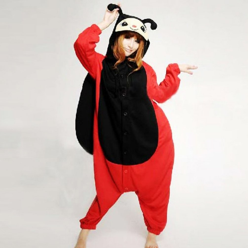 Adult Unisex Animal Seven Stars Ladybug Ladybird Pajamas Sleepsuit Cosplay Sleepwear