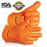 #1 Silicone BBQ Gloves ★ Perfect For Use As Heat Resistant Cooking Gloves, Grill Gloves, Or Potholder ★ Directly Manage Hot Food In The Kitchen, Use As Grilling Gloves, Oven Gloves, Or At The Campsite! ★ Protect Your Hands And Avoid Accidents With Insulated Waterproof Five-Fingered Grip ★ Far More Protection And Versatility Than Oven Mitts ★ 1 Pair Ekogrips™★ FREE Premium Hassle-Free Lifetime Guarantee!
