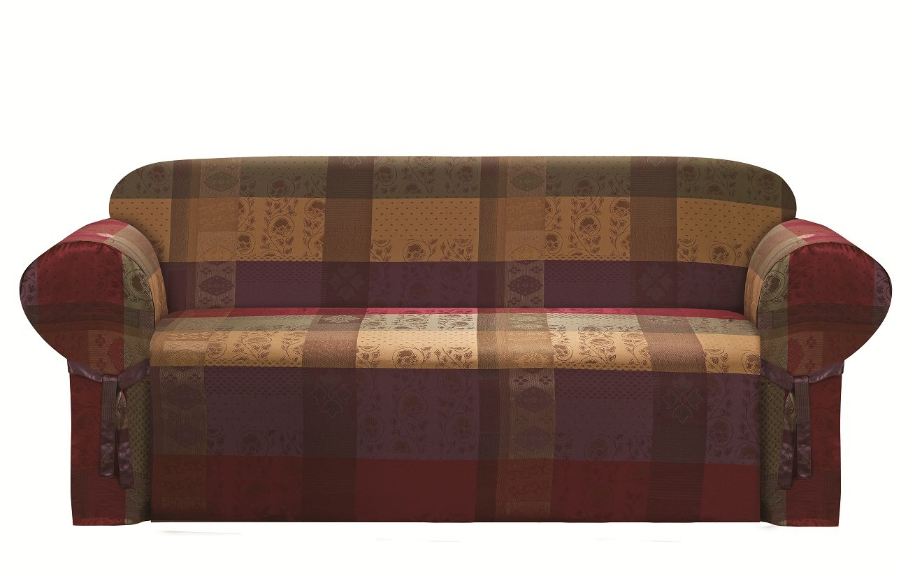 sofa cover storage bag sectional specials chezmoi collection gitano gold heavy duty jacquard couch