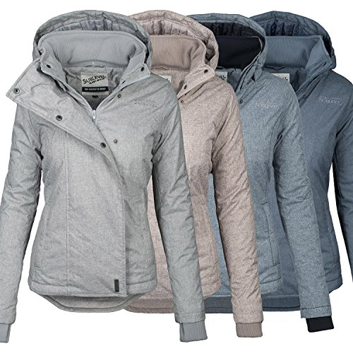 Sublevel Damen Herbst Winter Jacke Parka Mantel Winterjacke Outdoor B167
