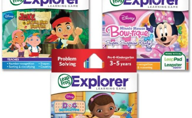 Leapfrog Explorer Disney Junior Learning Game Bundle For