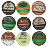 18 Pack - Limited Edition Fall Flavors Coffee Variety Pack of K-Cups for Keurig Brewers - Pumpkin Spice, Butter Toffee, Cinnamon, French Vanilla, Mocha, Cappuccino and Hazelnut flavored- from Timothy's, Gloria Jeans, Donut House Collection, Van Houtte