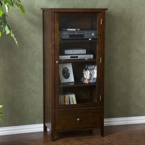 Media Storage Cabinets with Glass Doors