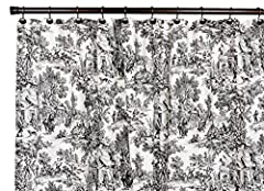 Victoria Park Toile Bathroom Shower Curtain, Black