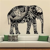 Elephant Wall Stickers Decals Indian Pattern Decal Vinyl ...