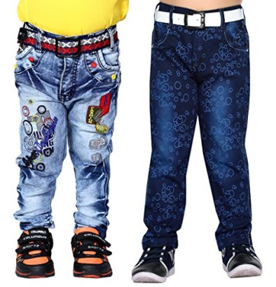 AJ-DEZINES-Little-Boys-Pack-Of-2-Denim-Jeans-6-7-Years-Blue-Dark-Blue