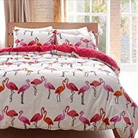 Amazon.com: LELVA Modern Flamingo Bedding Sets Cute Full ...