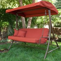 Siesta 3 Person Canopy Swing Bed  Terra Cotta Size  75L ...