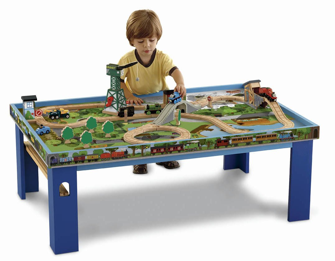 Fisher Price Table And Chairs Fisher Price Thomas The Train Wooden Railway Play Table Ebay