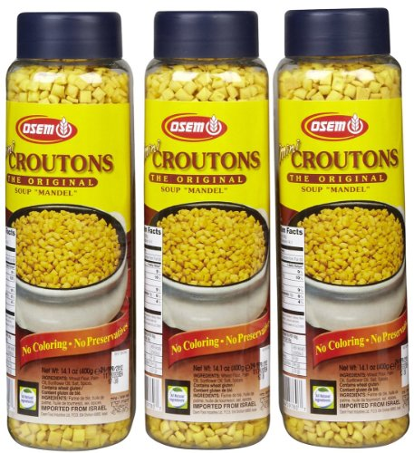 Osem Mini Mandel Croutons 141 oz 3 pk Food Beverages