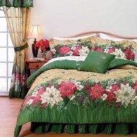 Christmas Bed In A Bag: Poinsettia Border Christmas ...
