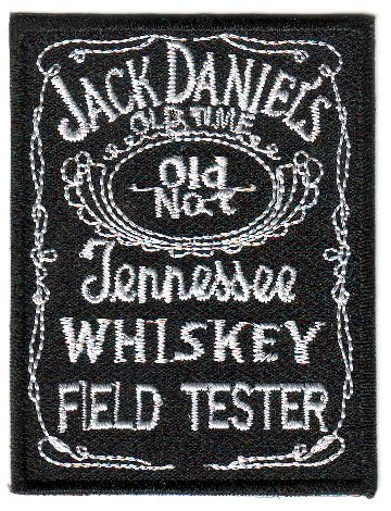 Aufnäher Bügelbild Iron on Patches Applikation Jack Daniel's