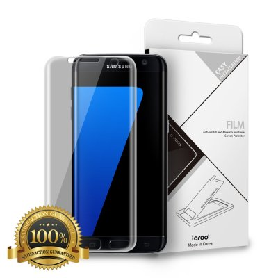 Galaxy S7 Screen Protector, 3D Full Cover TPU Screen Protector, i-croo I-Line Edge-to-Edge