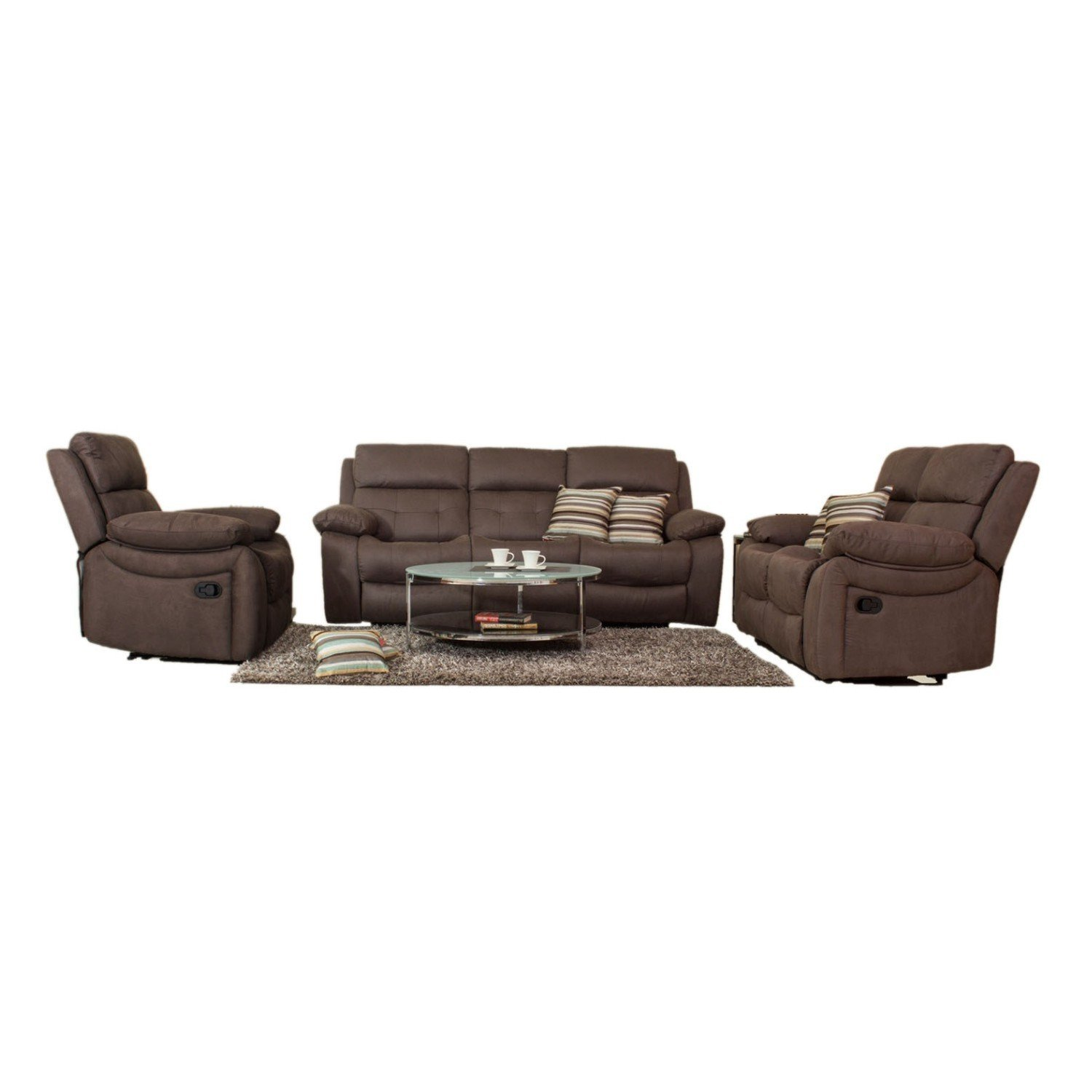 recliner sofa set amazon best bed 2018 canada evok eon 3 2 1 brown available at