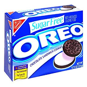 Amazoncom Oreo Chocolate Sandwich Cookies Sugar Free 6