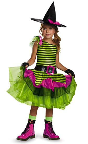 Disguise Tutu'riffic Whimsy Witch Girls Costume, X-Small (3T-4T)