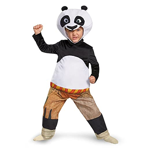 Disguise Panda-Po Deluxe Toddler Costume, Large (4-6)