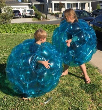 2Pack Wearable Inflatable Bumper Balls 36  Bubble