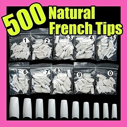 500 White False French Nail Art Tips Uv Acrylic 064