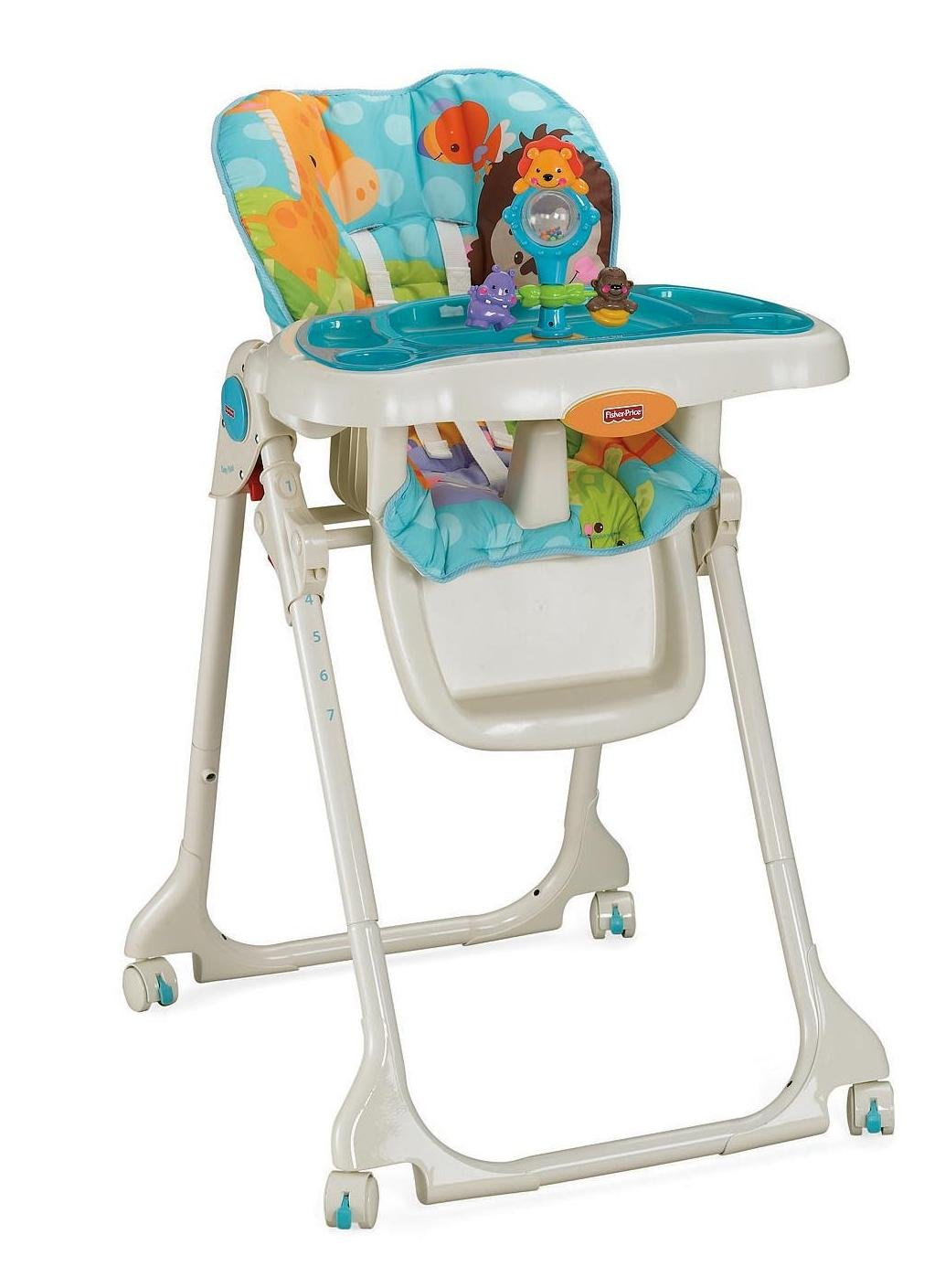 high chair with accessories reclining office chairs fisher price precious planet crib bedding and