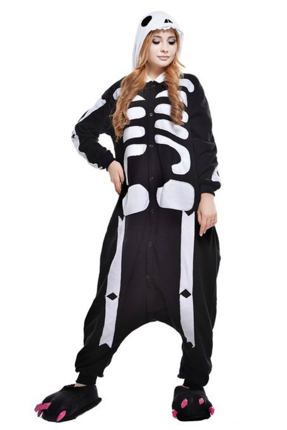 Skeleton Halloween Unisex Adult Pyjamas Kigurumi Costume