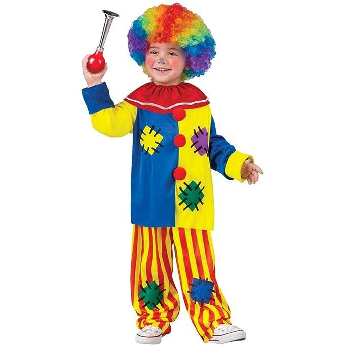 Fun World Costumes Baby Girl's Big Top Clown Toddler Costume, Yellow, Large