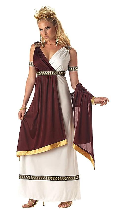 California Costumes Women's Roman Empress Costume,White/Burgundy, Small