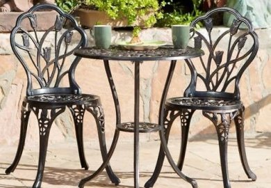 Metal Bistro Chairs Ebay