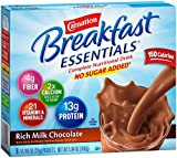Carnation Breakfast Essentials, No Sugar Added Rich Milk Chocolate Powder, 8-Count Envelopes 64- 0.705 oz (20g) (Pack of 8)