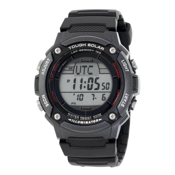 Digital Watch With Solar Atomic Time-synch