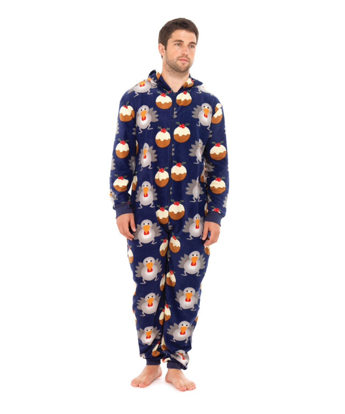 South Park Men's Kyle Christmas Print Pyjama Onesie Jumpsuit