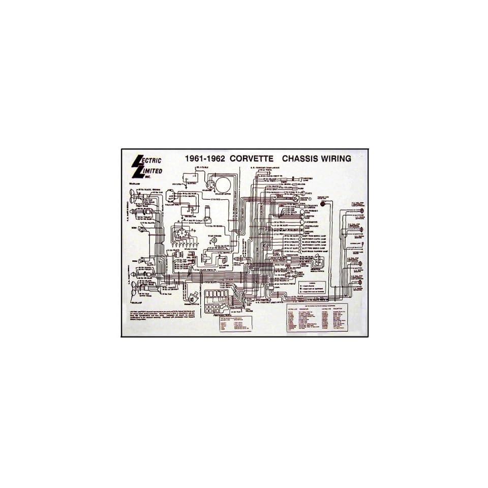 medium resolution of corvette c1 wiring diagram 17x22 laminated