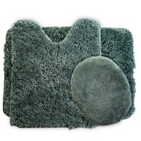 Lavish Home 3-Piece Super Plush Non-Slip Bath Mat Rug Set ...