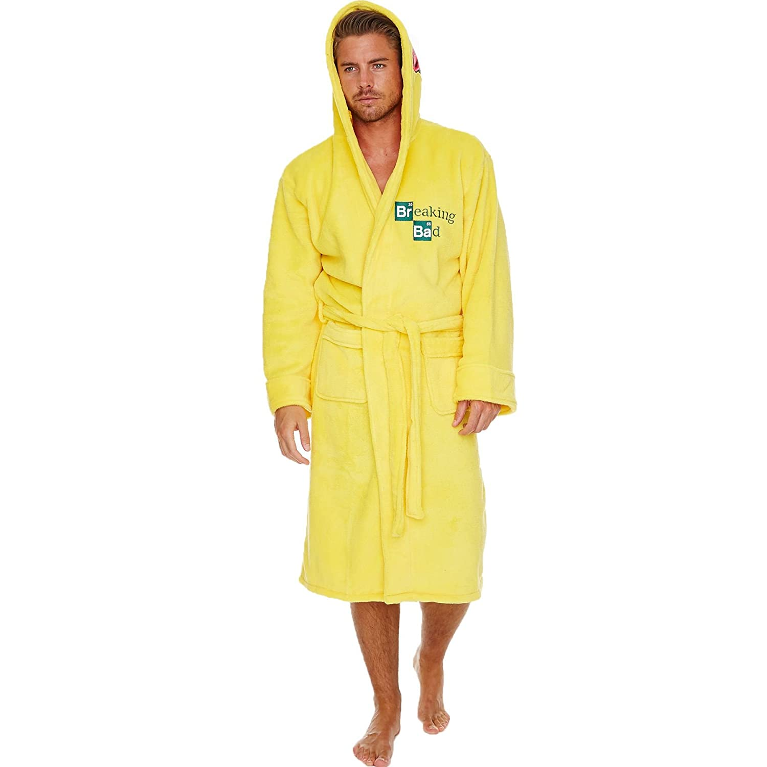Breaking Bad 'Cooksuit' Yellow Hooded 100% Polyester One Size Bathrobe