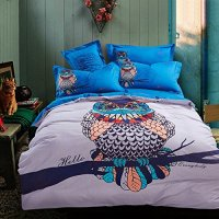 Awardpedia - Cliab Owl Bedding for Girls Queen Size Duvet ...