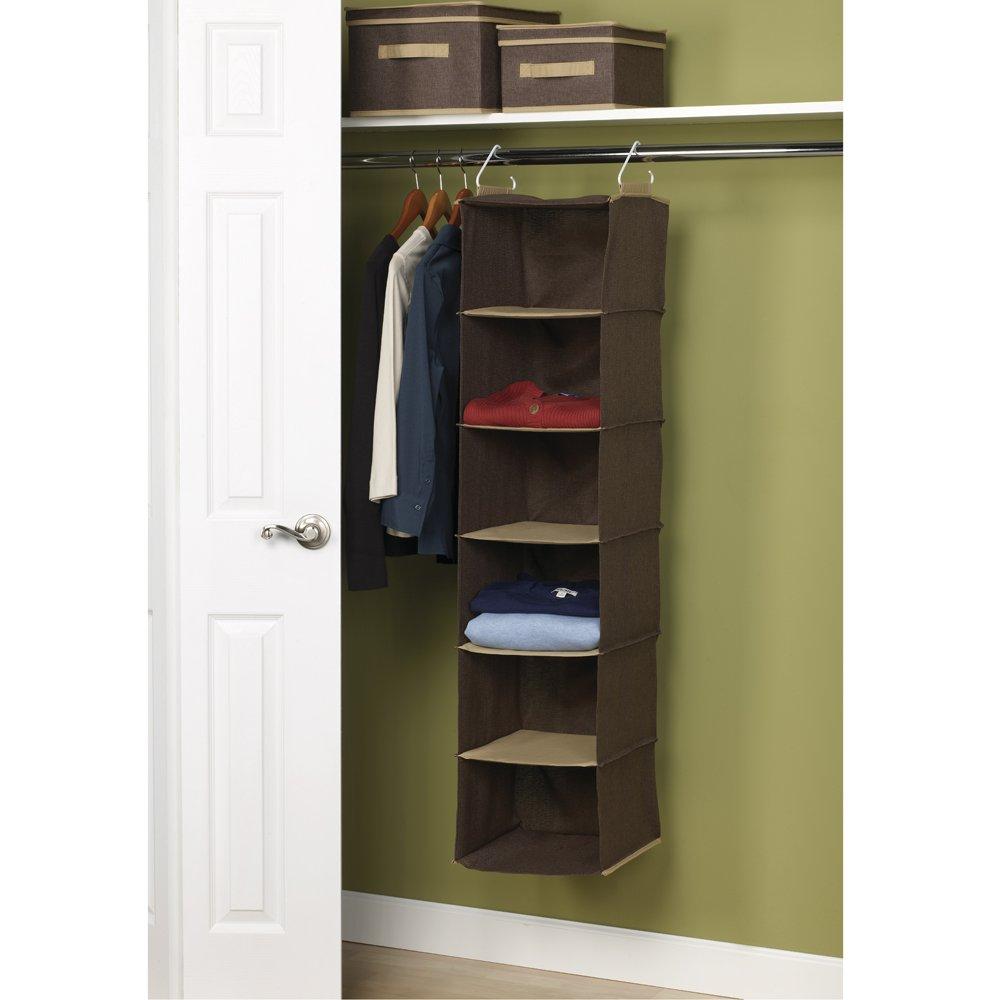 Household Essentials 6shelf Hanging Closet Organizer