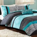 Teal and black bedding exceptionally stunning sets