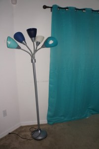 Room Essentials 5-Head Floor Lamp - Blue - Multiple Floor ...