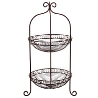 Kitchen Fruit Vegetable Holder Baskets 2 Tier Dining Table ...