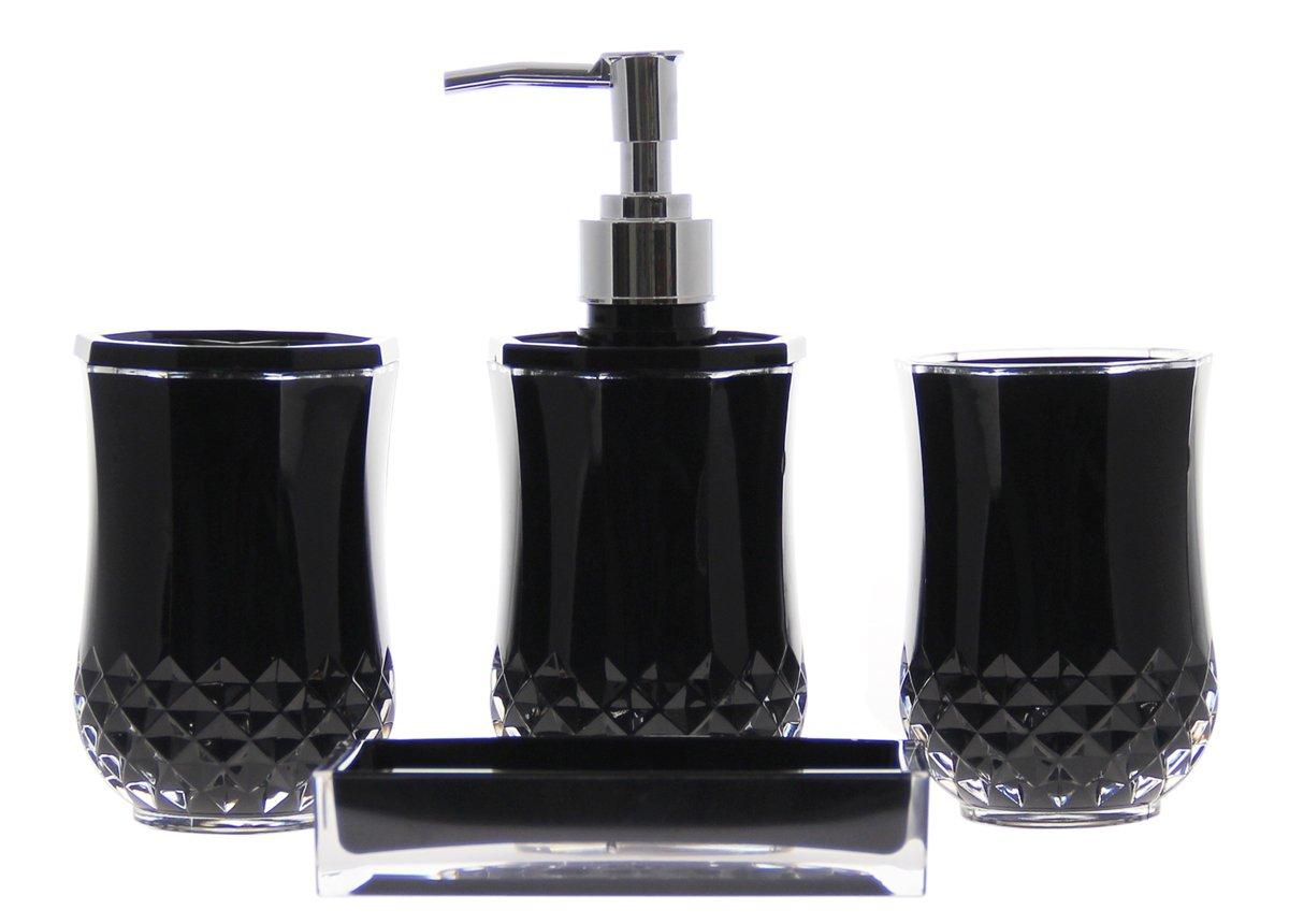 4Piece Bathroom Accessory  Soap Dispenser Dish Toothbrush Holder Bath Set  eBay