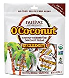 Nutiva O'Coconut Coconut Treat, Hemp and Chia, 8 Individually Wrapped Pieces