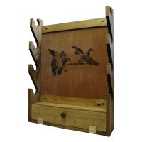 New Nice Wooden Wall Gun Rack Display Storage 4 Racks Pine ...